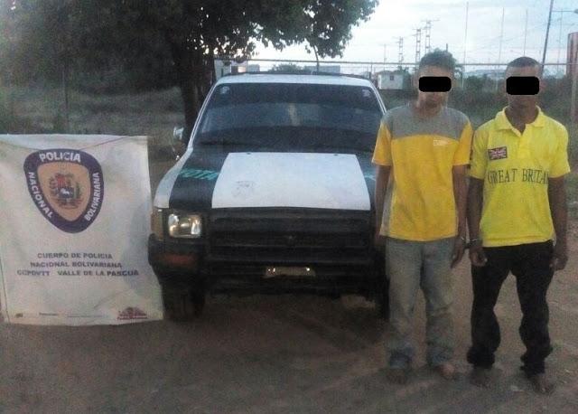 Roba-fincas fueron atrapados por Policía Nacional en Espino