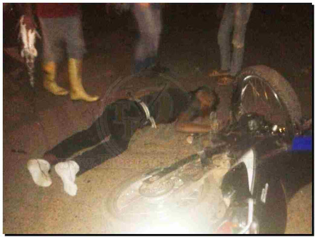 Un muerto y dos lesionados dejó choque entre motos