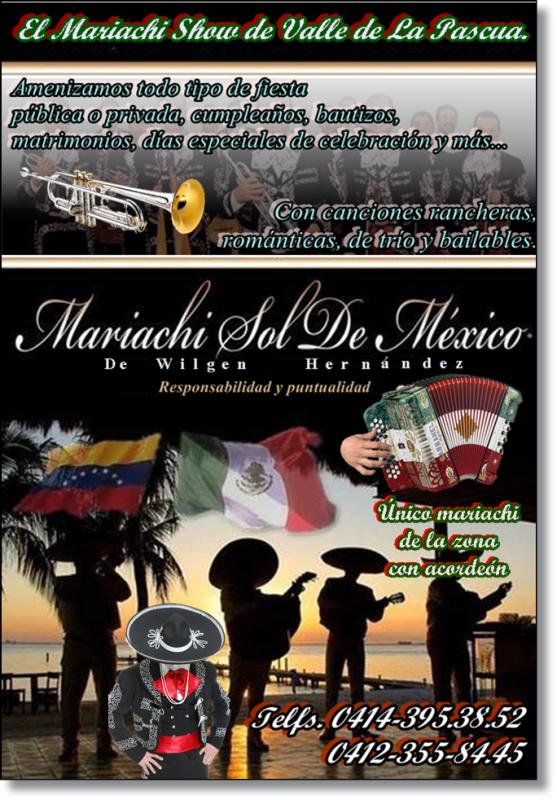 Mariachis Show «Sol de México» (PUBLICIDAD)