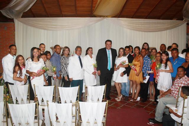 Pedro Loreto celebró I Jornada de Matrimonios Colectivos en La Pascua