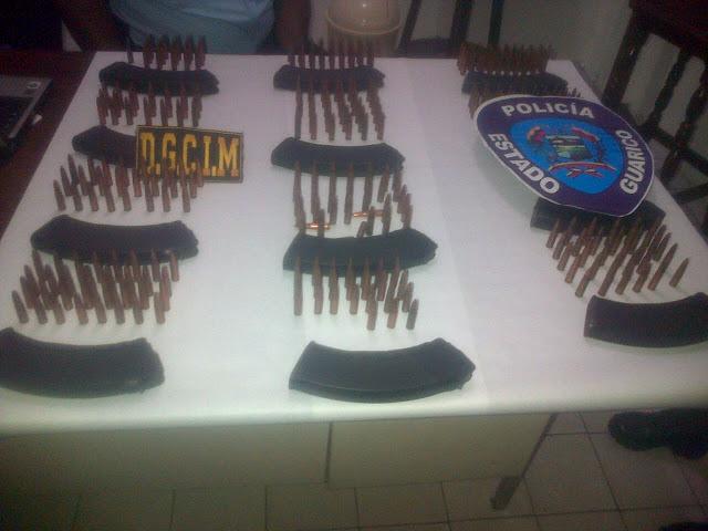 Poliguárico y Dgcin atraparon a contrabandistas de municiones