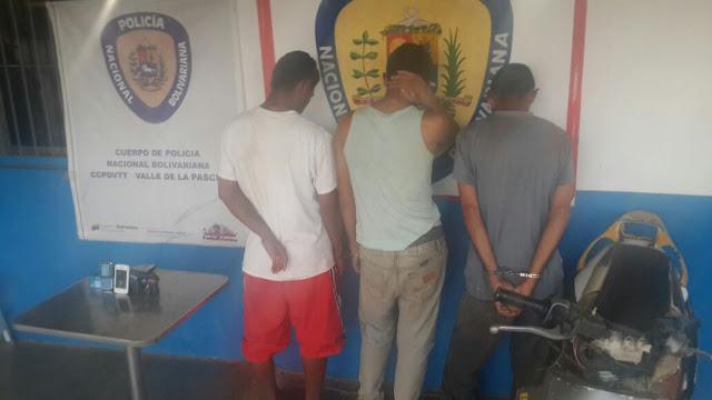 Trío de ladrones fue atrapado por PNB