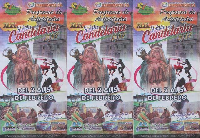 """Cronograma de actividades de la """"XLIX Ferias de La Candelaria 2017"""""""
