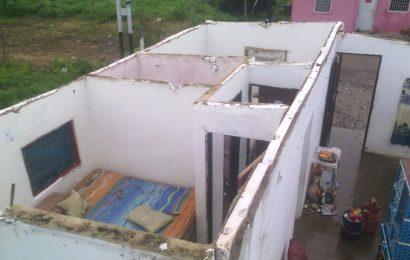 Fuerte viento dejó sin techo a casa en Valle de La Pascua