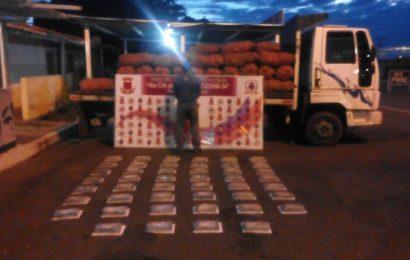 GNB lo atrapó con más de 50 kilos de cocaína en El Sombrero