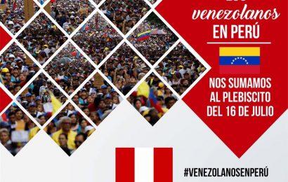 Venezolanos en Perú se suman al Plesbicito que se hará en contra de la Constituyente