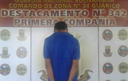 """Capturado Delincuente de """"Los Más Buscados en Guárico""""."""