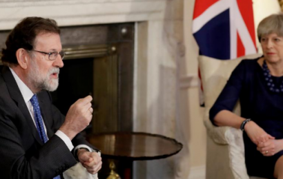 Theresa May apoya a Rajoy ante la situación de Catalunya