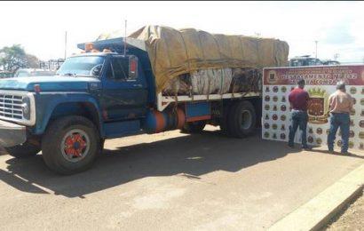 Decomisada la transportación de siete toneladas de materiales