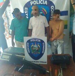 Detenidos tres delincuentes por los delitos de robo y secuestro