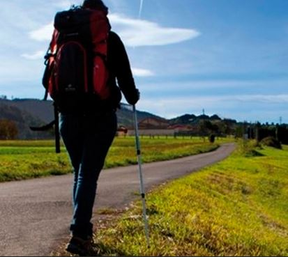 Peregrina Venezolana en el Camino de Santiago en Galicia
