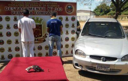 Efectivos del D342 detuvo a dos sujetos en el estado Guárico
