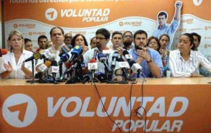 Voluntad Popular no respaldará las elecciones presidenciales