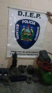 El destacamento de la 341 de la GNB, capturó a varios sujetos por hurtar materiales estratégicos (cobre).  ElTeniente Coronel Luis Casanova Abad,comandante del D341, informó que los funcionarios continúan con las labores de patrullaje preventivo.