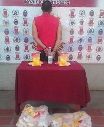Destacamento 341 capturó a individuo que robó alimentos