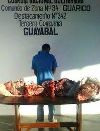 Detenido sujeto por poseer kilos de carne sin la documentación respectiva