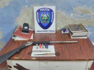 Detenidos dos sujetos por portar ilícitamente armas de fuego