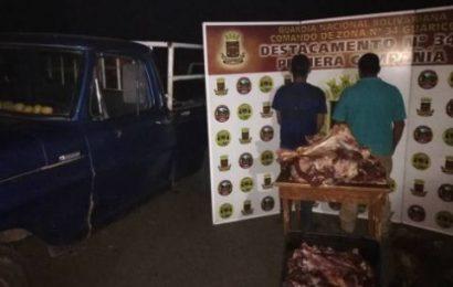 Detenidos individuos por poseer carne sin la documentación