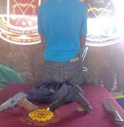 Guardia Nacional Bolivariana apresó a sujeto por arma de fuego