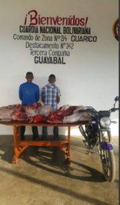 Destacamento 342 capturó a sujeto con varios kilos de carne