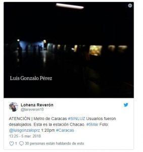 Apagón tras falla eléctrica en zonas de la Gran Caracas