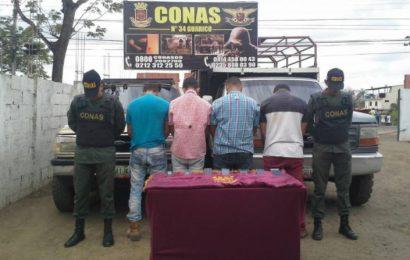 Banda delictiva es desmantelada por efectivos del CONAS