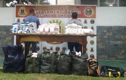 Destacamento 342 detuvo a sujetos por contrabando de azúcar