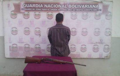 Guardia Nacional Bolivariana detuvo a sujeto por arma de fuego