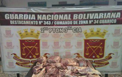 Guardia Nacional Bolivariana decomisó 50 kilos de carne