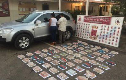 Guardia Nacional Bolivariana incautó 65 kilos de presunta cocaína