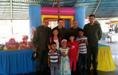 Guardia Nacional Bolivariana compartió con infantes oncológicos