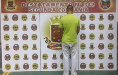 Guardia Nacional Bolivariana arrestó a sujeto por golpear a una mujer