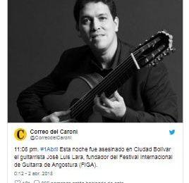 Asesinan a guitarrista venezolano para robarle su carro