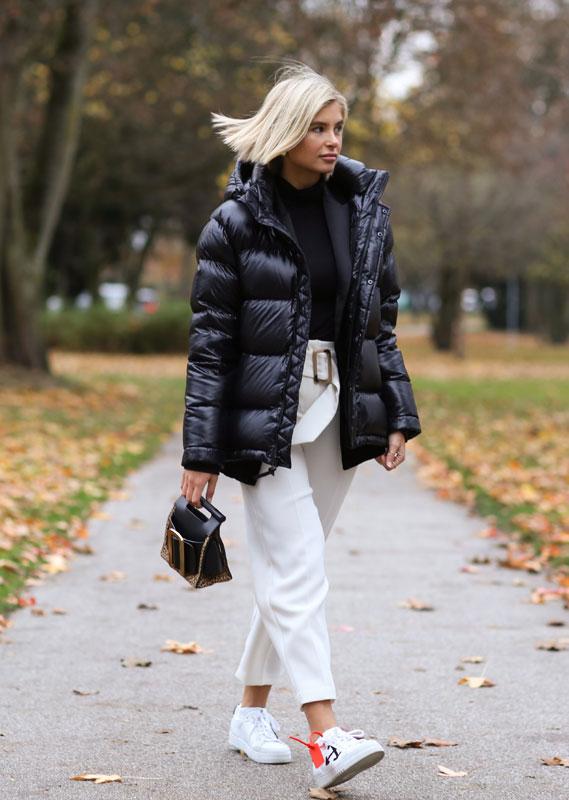 Pantalón blanco para el invierno