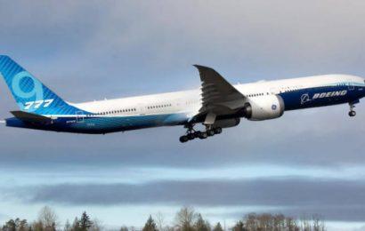 El Boeing 777X, con más de 300 piezas impresas en 3D, efectúa su primer vuelo